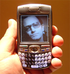 Bono on my Treo